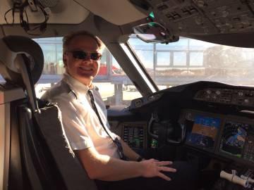 El capitán Harold Van Dam, responsable del vuelo subsónico más rápido entre Nueva York y Londres. Imagen cedida por Norwegian