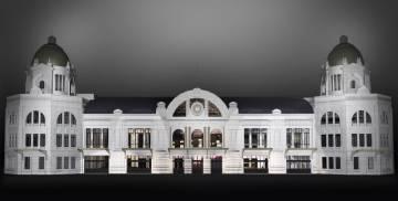 Recreación de cómo quedará la fachada de la estación de Principe Pío (Madrid).