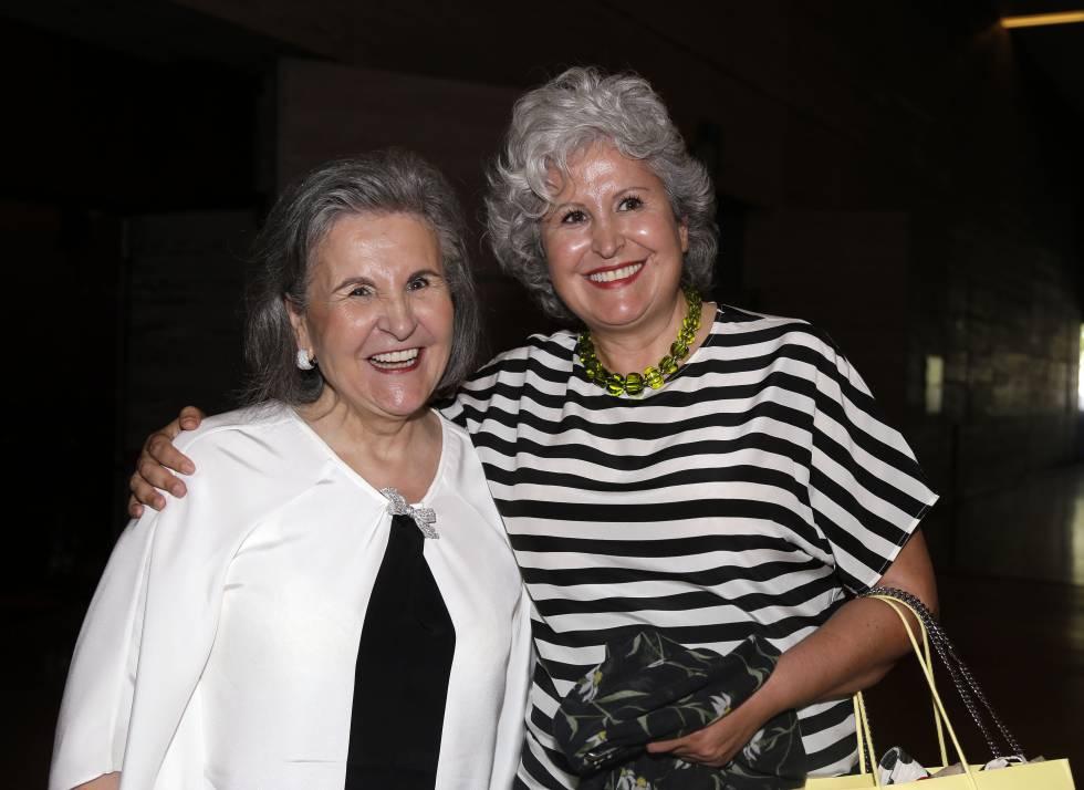 Pili Carrera (izquierda) y su hija Salomé, en agosto del año pasado en Madrid.