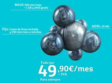 Publicidad de Movistar Fusión con la promesa de tarifas para siempre.