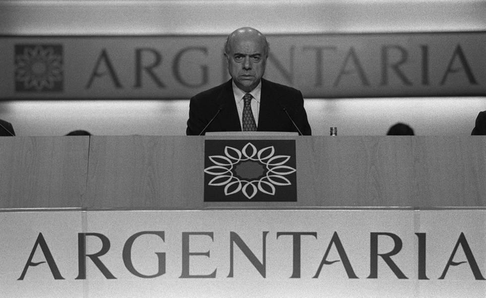 Francisco González, en 1998, poco después de ser nombrado presidente de Argentaria