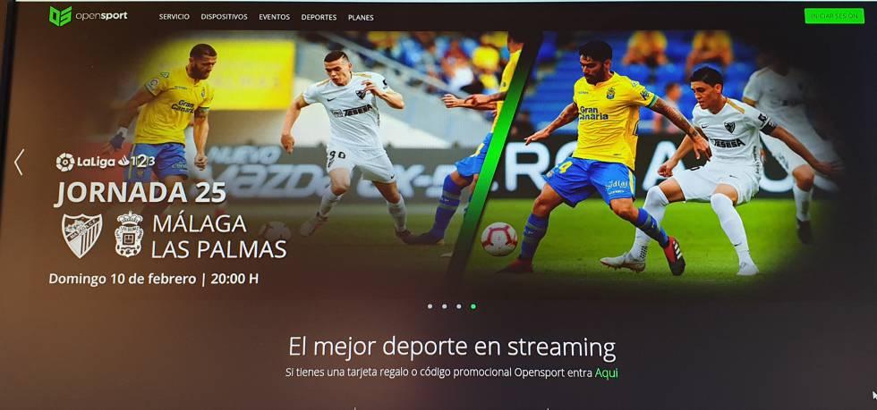 Página web de OpenSport.