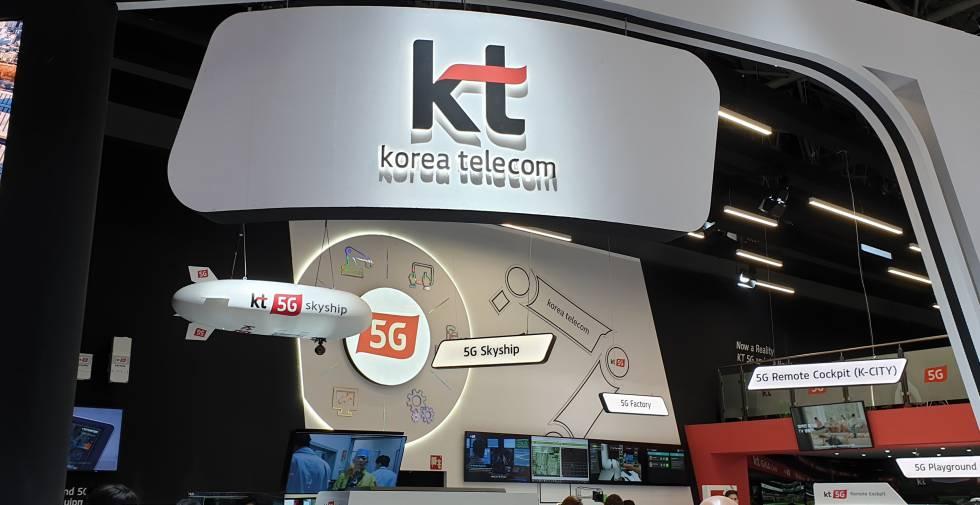 Stand de 5G Korea Telecom en el MWC19.
