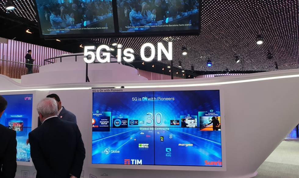 Stand 5G de Huawei en el MWC19.