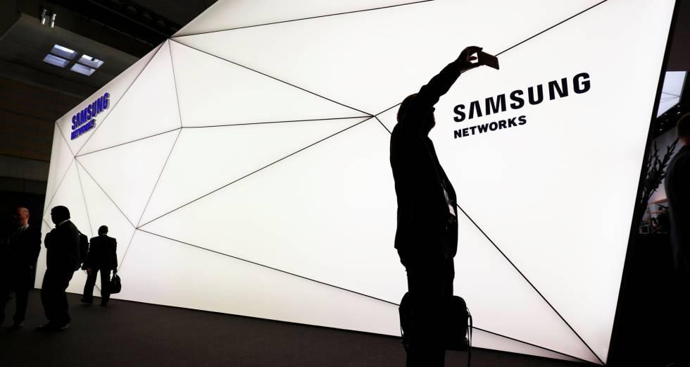 Stand de Samsung en el MWC de Barcelona.