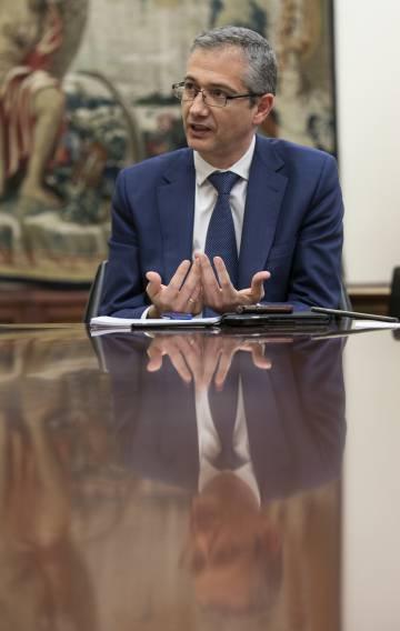 Pablo Hernández de Cos, gobernador del Banco de España, durante la entrevista
