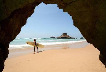 La playa de Castelejo, en el Algarve (Portugal).