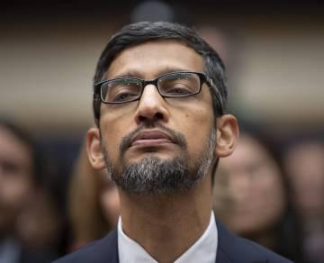 Sundar Pichai, en el Congreso de EE UU, en diciembre del año pasado.