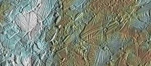 Fotografía de la superficie de Europa