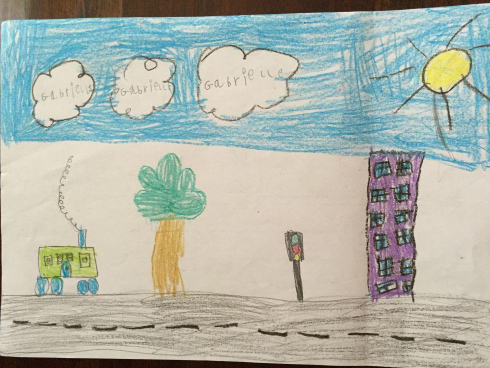 Dibujo libre de una niña de 5 años.