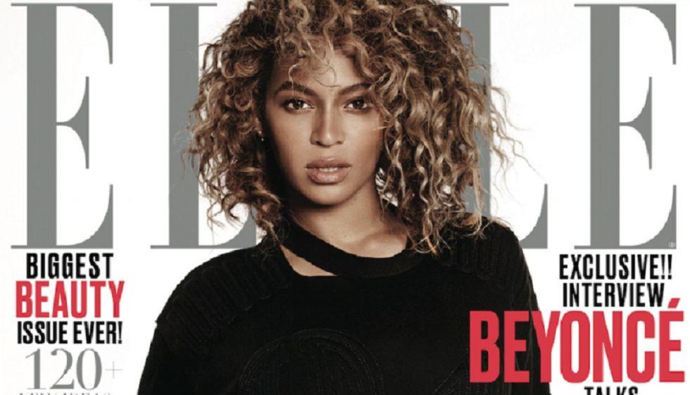 Beyoncé en la portada de 'Elle'.