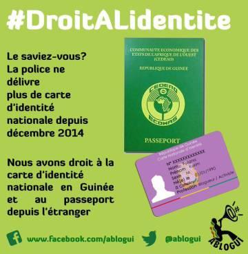 Affiche exigeant le renouvellement des cartes d'identité. ABLOGUI