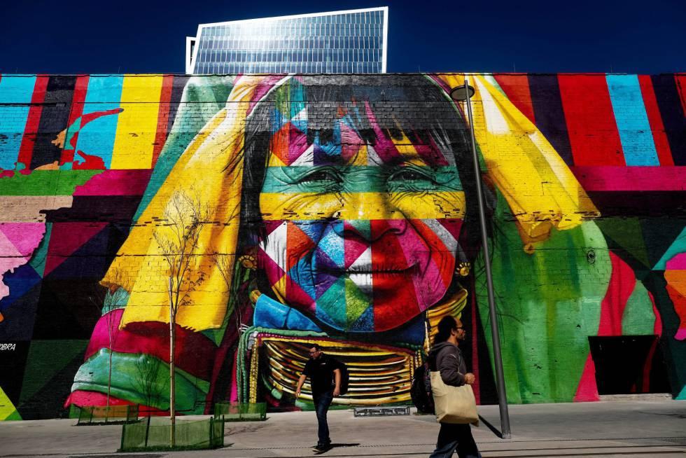 Resultado de imagen de mural Etnias de Cobra en Río