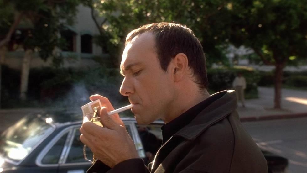 Kevin Spacey em 'Os Suspeitos' (1995), preparando seu encontro com o diabo