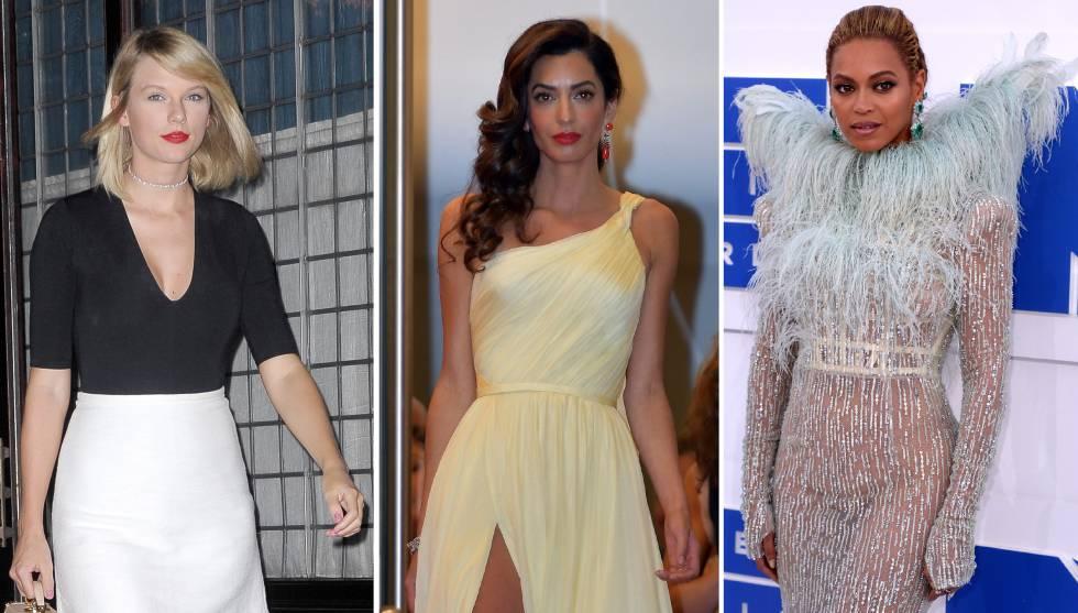 Taylor Swift, Amal Clooney y Beyoncé.