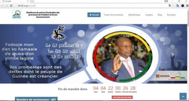 Page web de Lahidi, Guinée