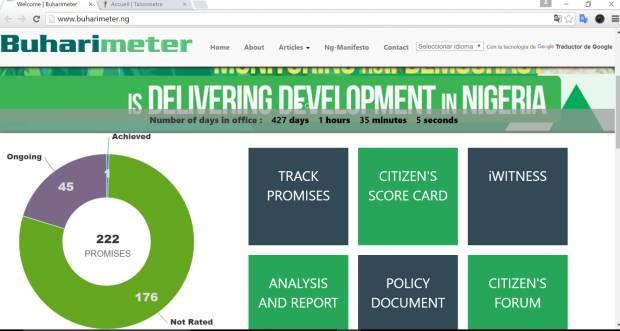 Le Buharimètre, au Nigeria. Source: elpais.com/