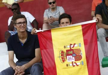 Aficionados que siguieron el entrenamiento de La Roja.