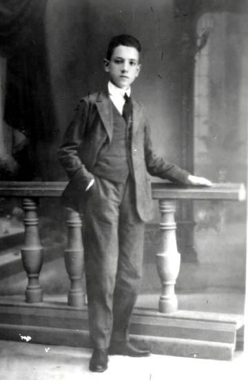 Rafael Méndez, con 15 años, en Madrid.