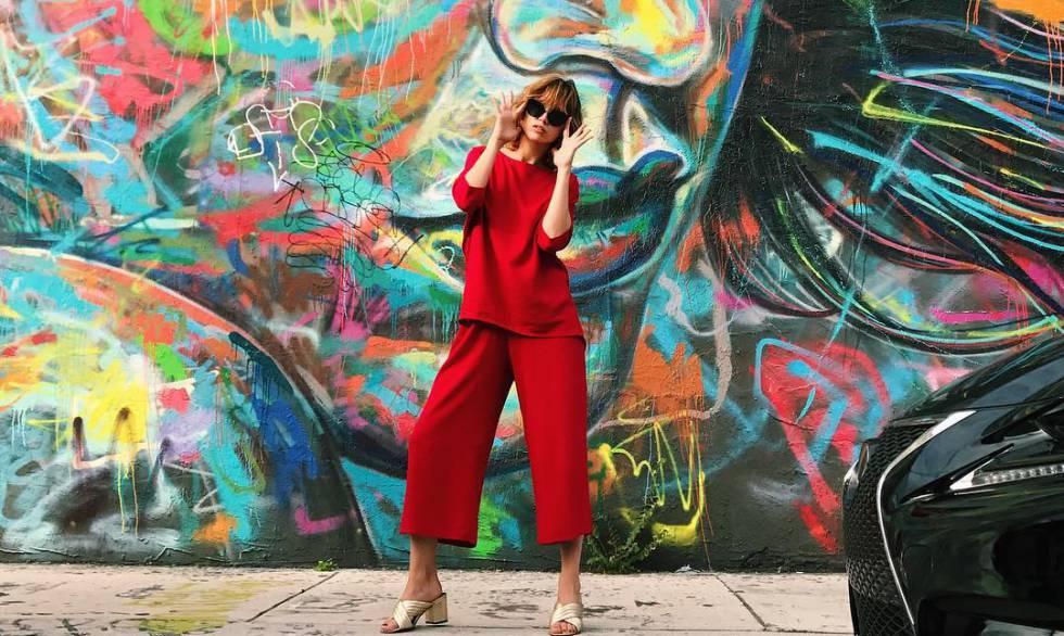 La actriz Úrsula Corberó, en una foto publicada en su Instagram para promocionar una marca de ropa.