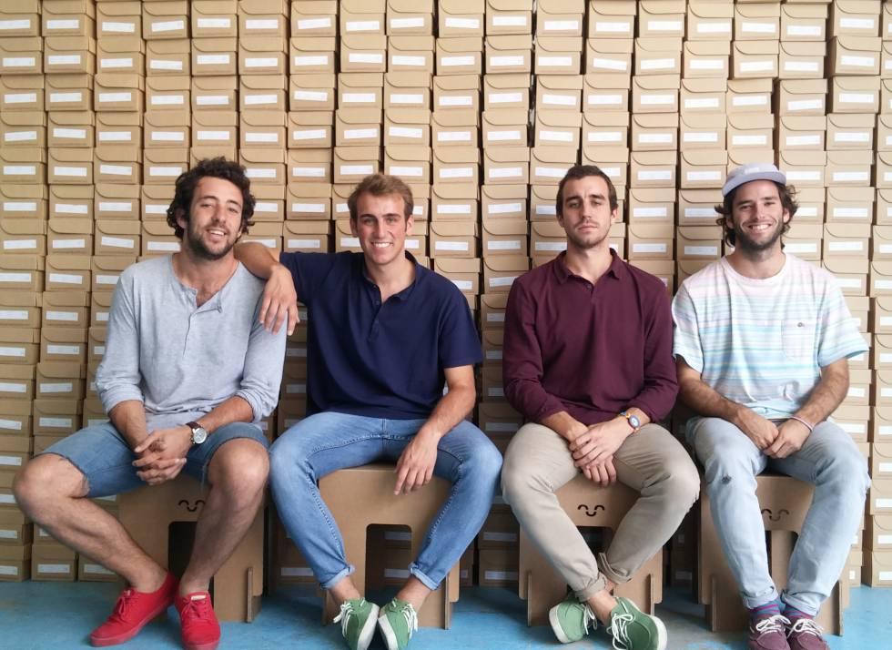 Los cuatro madrileños de 25 años que han creado Pompeii.