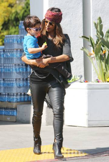 Halle Berry with her son Maceo in Los Angeles.