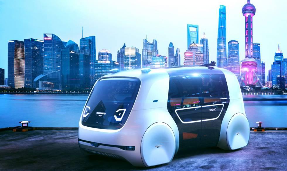 El Sedric es un prototipo de minibus sin conductor pensado como opción para la movilidad del futuro.
