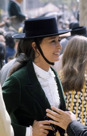 La condesa de Romanones, en Sevilla en la década de 1970.