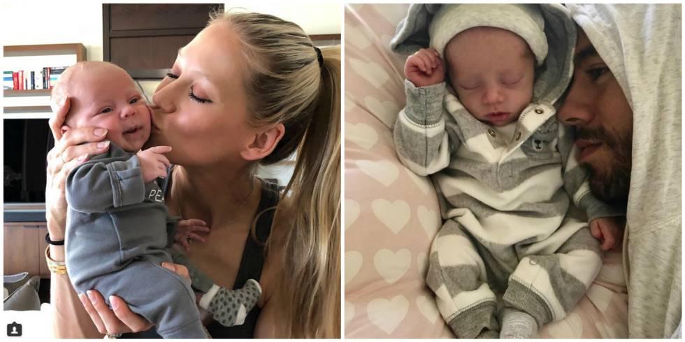 Anna Kournikova y Enrique Iglesias en las fotos con uno de sus hijos que han compartido en sus respectivas cuentas de Instagram.