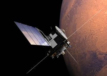 Recreación de la sonda 'Mars Express' en Marte.