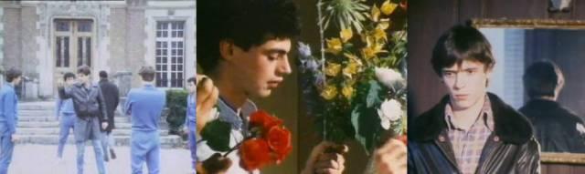 En 'Les Minets Sauvages' (1984) los actores juegan con adornos florales en un reformatorio gótico francés.