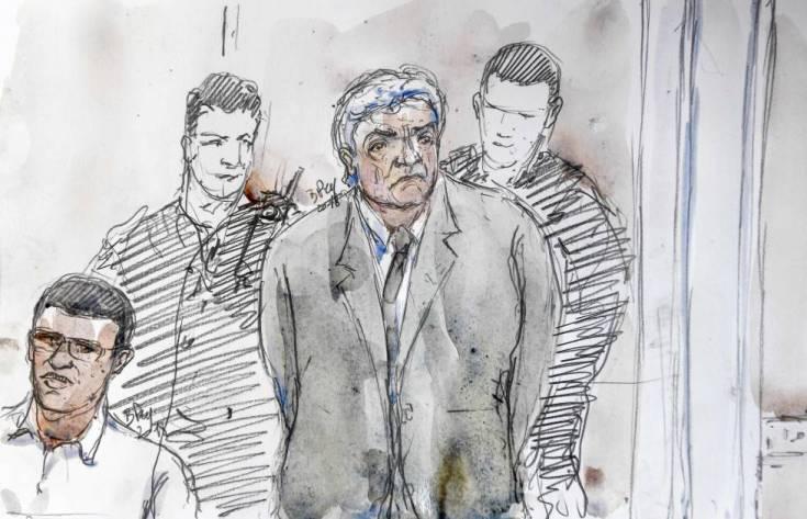 Un dibujo de Wojciech Janowski, durante el juicio.