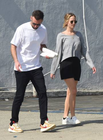 Jennifer Lawrence and Cooke Maroney this week in Los Angeles.