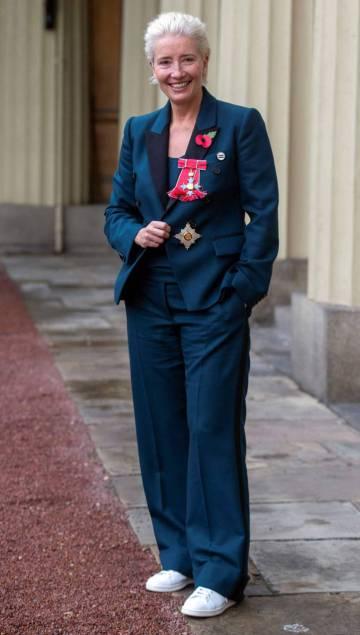 Emma Thompson, en su nombramiento como Dama del Imperio Británico, el pasado 8 de noviembre.