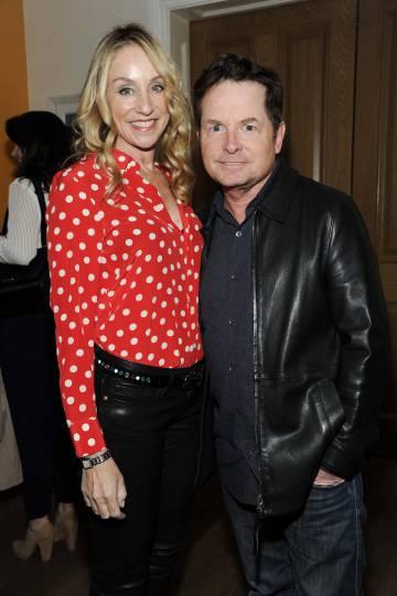 Michael J. Fox y su esposa, Tracy Pollan, en Nueva York en noviembre de 2016.