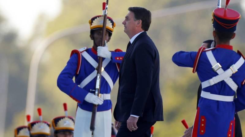 Bolsonaro, en una ceremonia militar.