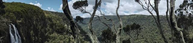 Vista das montanhas Aberdare, no Quênia.