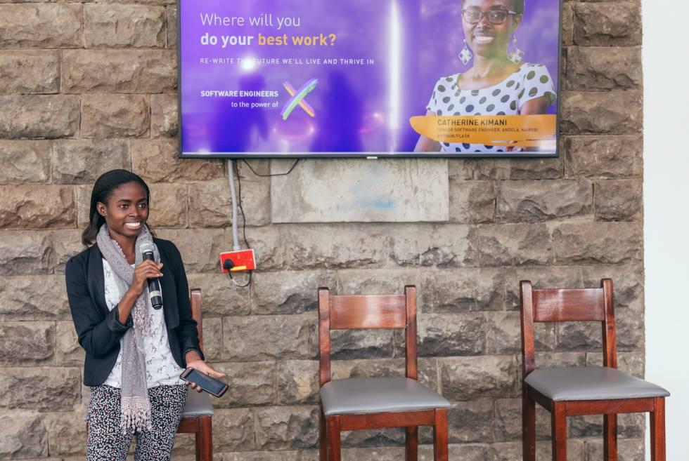 La creadora de programas Catherine Kimani cuenta su experiencia en Andela.