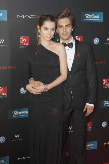 Ana de Armas with whom she was her husband for two years, also actor Marc Clotet, at an event held in Barcelona in 2011.