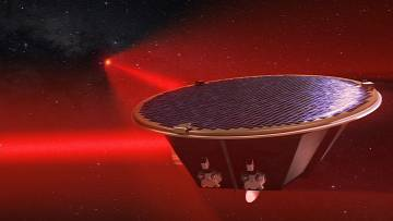 LISA will be a constellation of three satellites like the one shown in the illustration