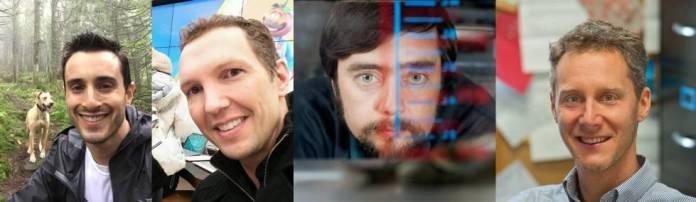American scientists Sam Kriegman, Douglas Blackiston, Michael Levin and Josh Bongard.
