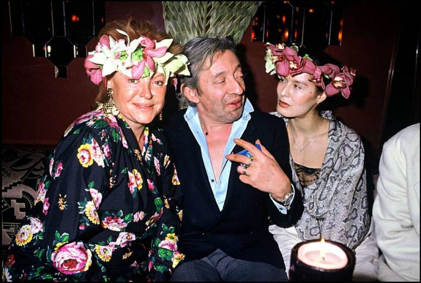 Caribbean party in 1988 at Regine's with Regine, Serge Gainsbourg and Bambou.