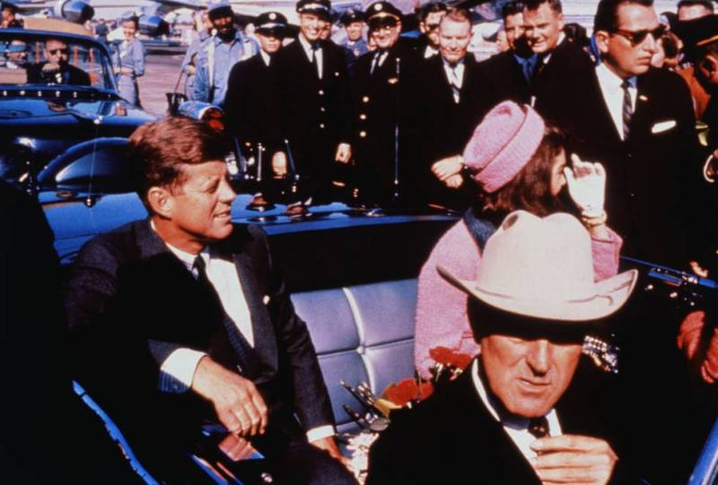 John and Jackie Kennedy moments before John's murder in 1963.