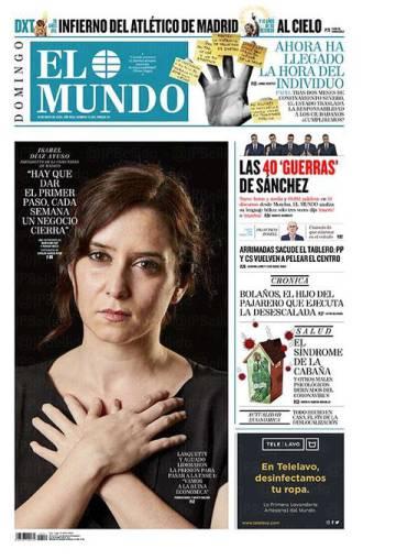 Portada de 'El Mundo' que protagonizó, no exenta de polémica, Díaz Ayuso.