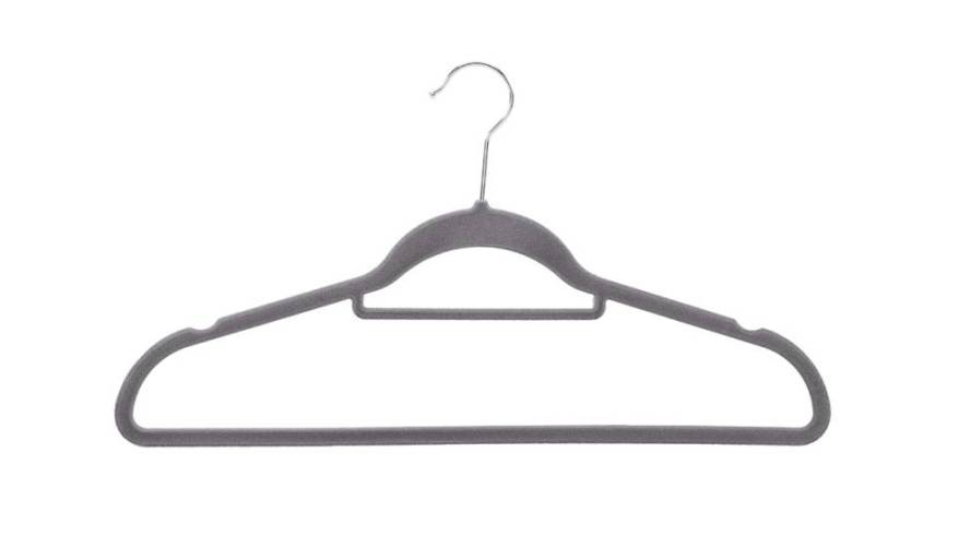 Velvet, in various colors and in 'packs' of 30 or 50: these are the best-selling hangers on Amazon
