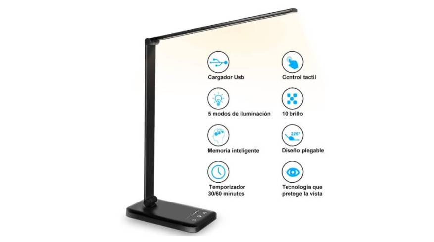 The best-selling desk lamp on Amazon is foldable, has ten levels of brightness and charges the mobile