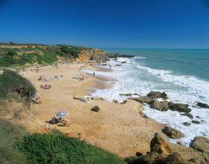 La playa de Roche, cerca de Cónil (Cádiz).