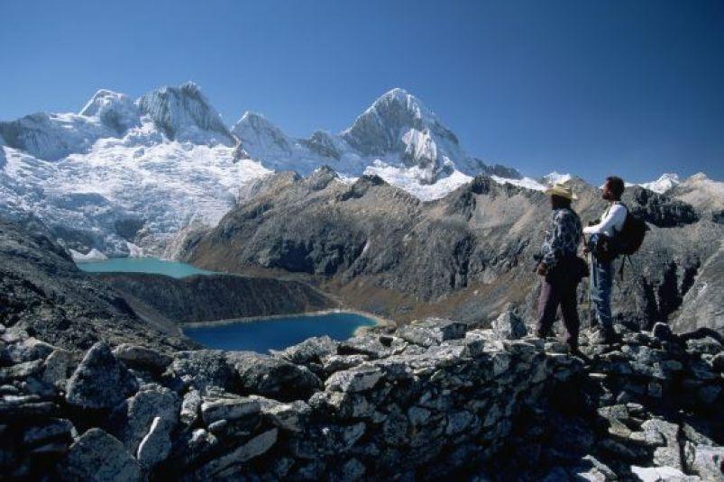 La laguna de Cullicocha, en la Cordillera Blanca