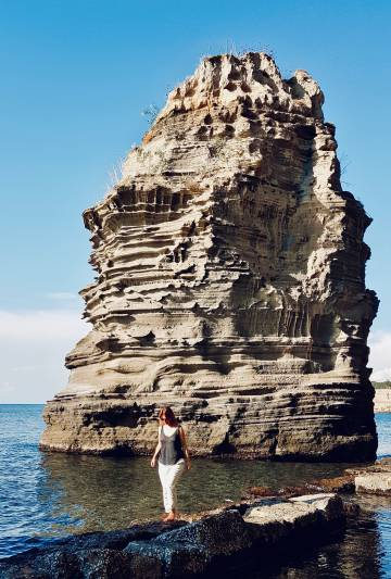 Playa de Chiaiolella, en Procida, en el sur de Italia.