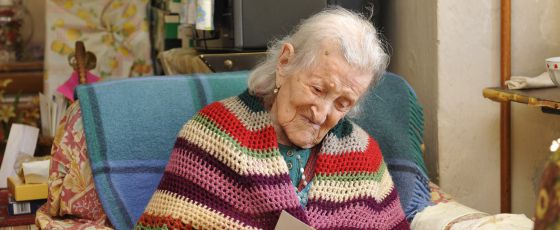 Emma Morano en su casa de Verbania, al norte de Italia. / Danilo Giodes